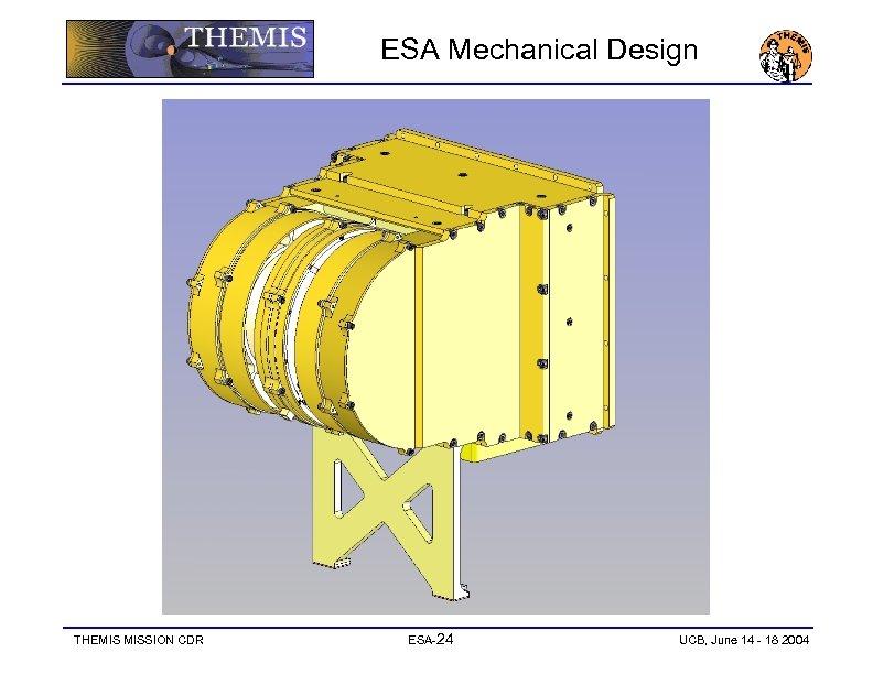 ESA Mechanical Design THEMIS MISSION CDR ESA-24 UCB, June 14 - 18 2004