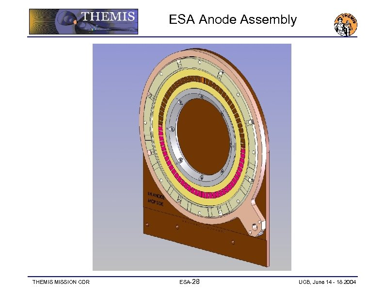 ESA Anode Assembly THEMIS MISSION CDR ESA-28 UCB, June 14 - 18 2004