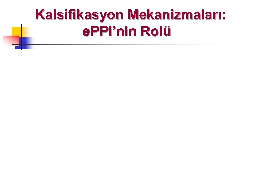 Kalsifikasyon Mekanizmaları: e. PPi'nin Rolü