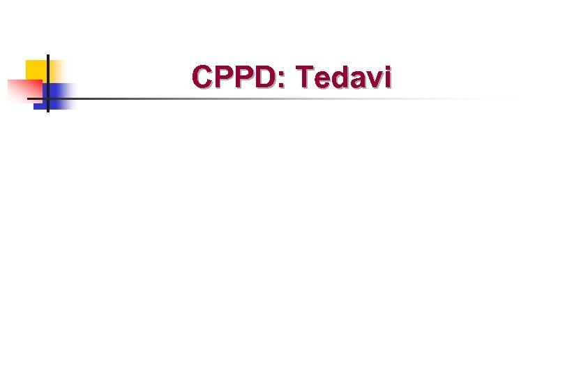 CPPD: Tedavi
