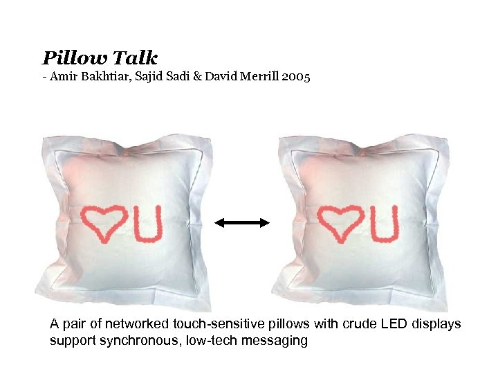 Pillow Talk - Amir Bakhtiar, Sajid Sadi & David Merrill 2005 A pair of