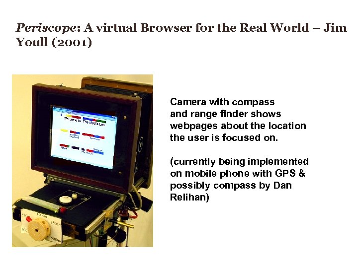 Periscope: A virtual Browser for the Real World – Jim Youll (2001) Camera with