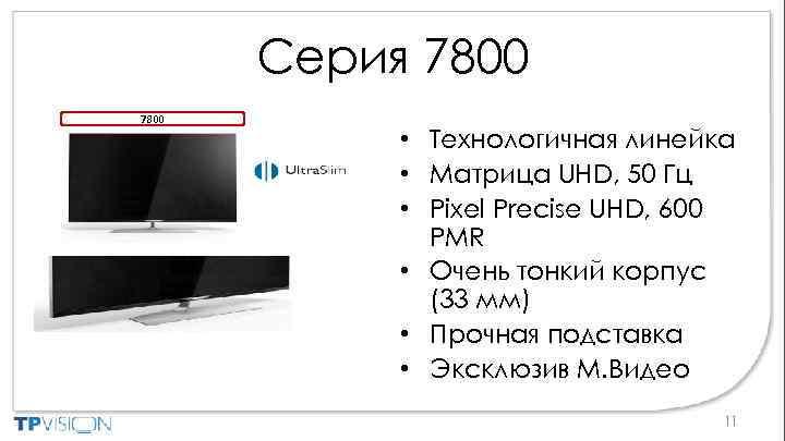 Серия 7800 • Технологичная линейка • Матрица UHD, 50 Гц • Pixel Precise UHD,