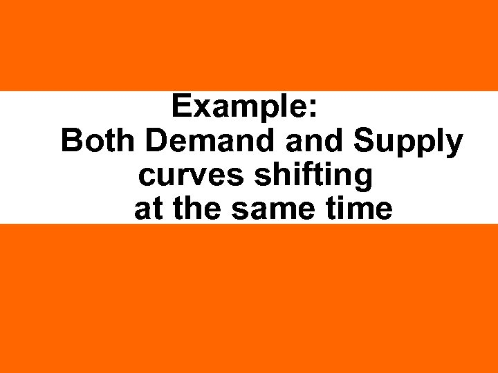 Example: Both Demand Supply curves shifting at the same time