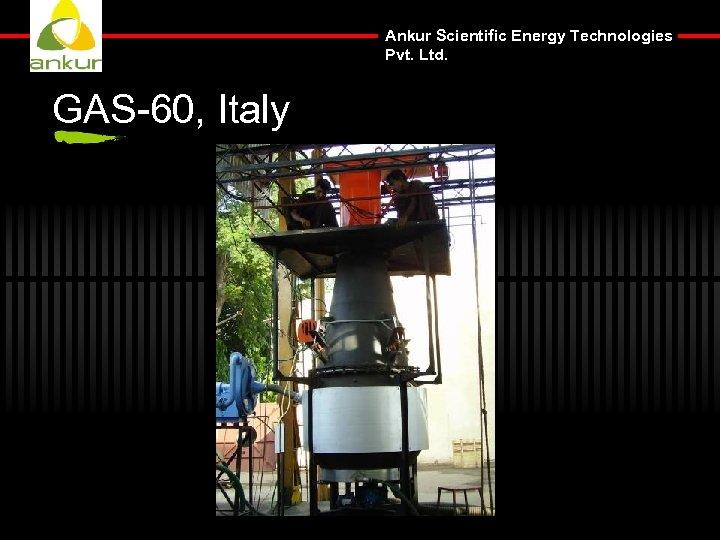 Ankur Scientific Energy Technologies Pvt. Ltd. GAS-60, Italy