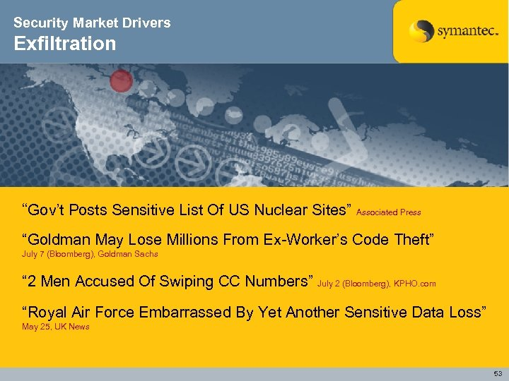"""Security Market Drivers Exfiltration """"Gov't Posts Sensitive List Of US Nuclear Sites"""" Associated Press"""