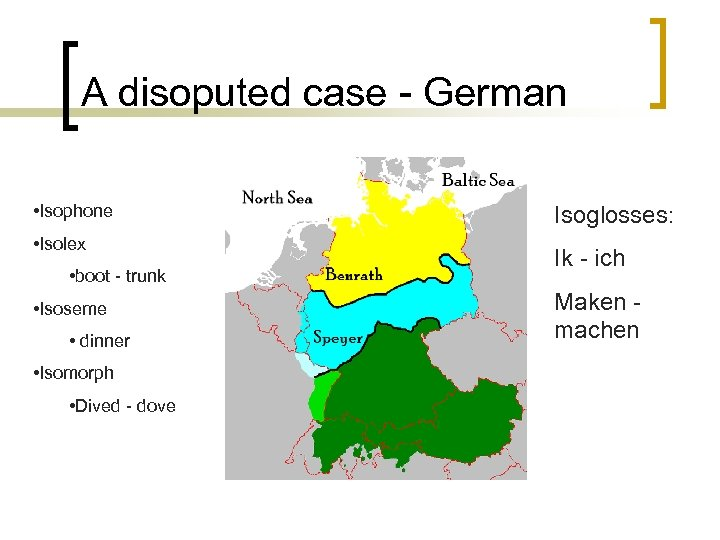 A disoputed case - German • Isophone • Isolex • boot - trunk •