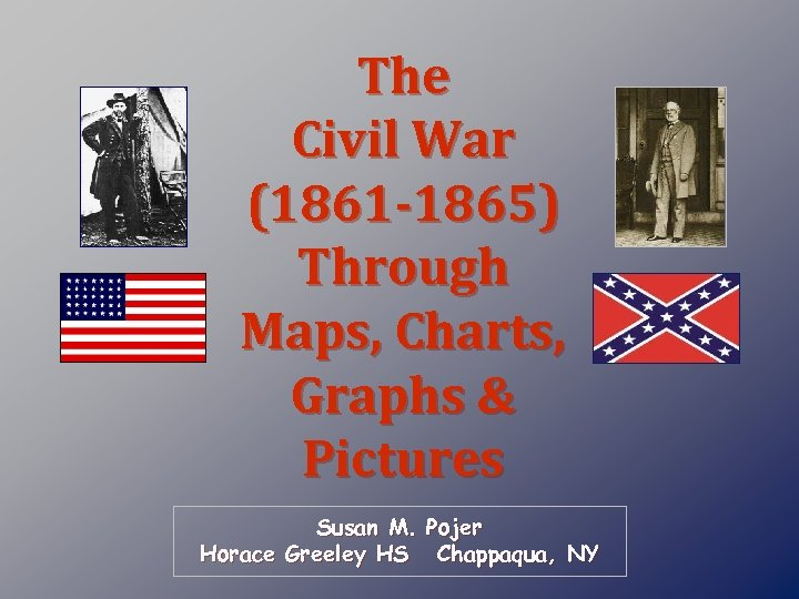 The Civil War (1861 -1865) Through Maps, Charts, Graphs & Pictures Susan M. Pojer