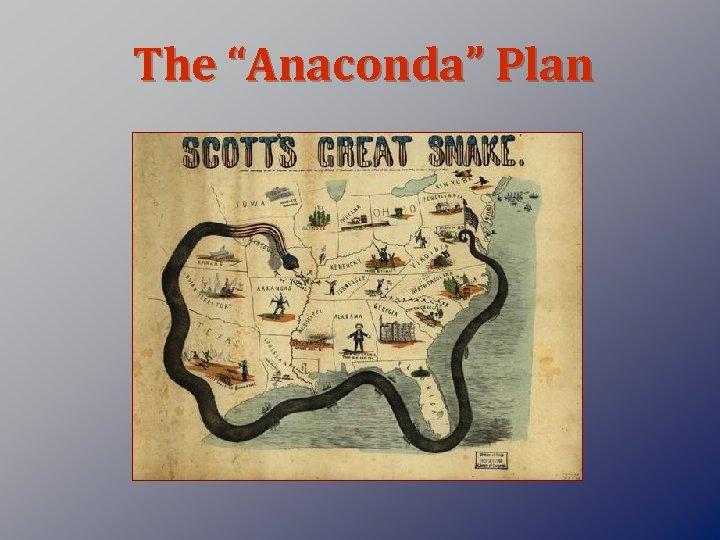 "The ""Anaconda"" Plan"