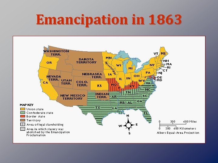 Emancipation in 1863