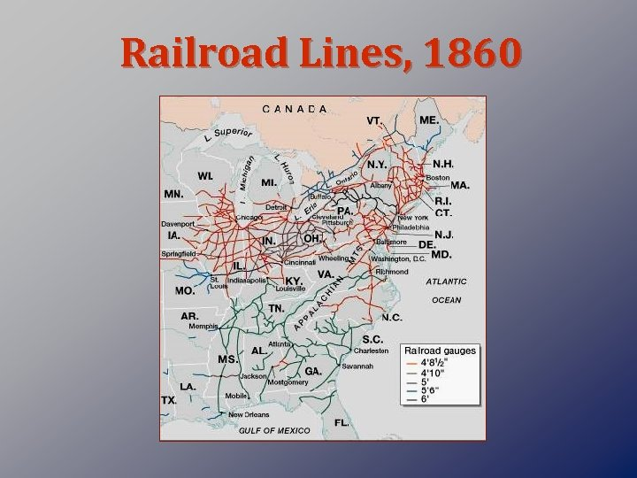 Railroad Lines, 1860