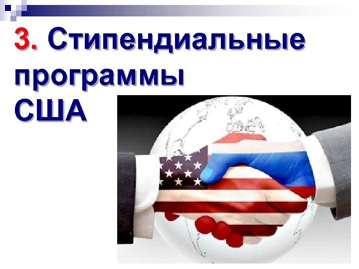 3. Стипендиальные программы США