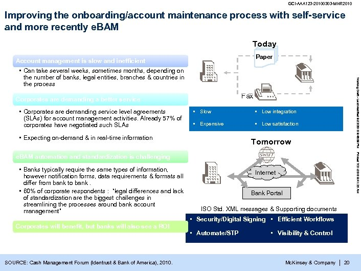 GCI-AAA 123 -20100303 -MHR 2010 Improving the onboarding/account maintenance process with self-service and more
