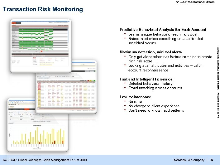 GCI-AAA 123 -20100303 -MHR 2010 Transaction Risk Monitoring Predictive Behavioral Analysis for Each Account