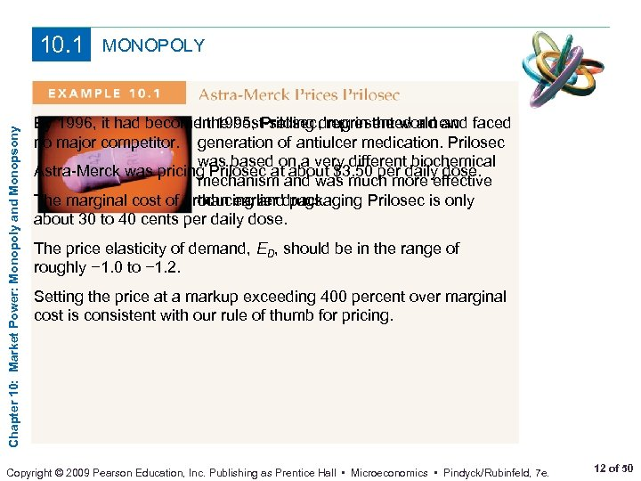 Chapter 10: Market Power: Monopoly and Monopsony 10. 1 MONOPOLY By 1996, it had