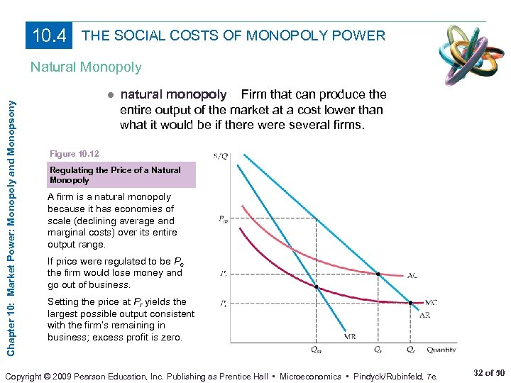 10. 4 THE SOCIAL COSTS OF MONOPOLY POWER Chapter 10: Market Power: Monopoly and