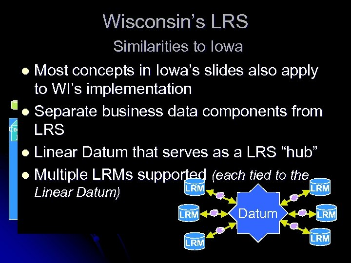 Wisconsin's LRS Similarities to Iowa l Most concepts in Iowa's slides also apply to