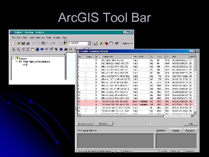 Arc. GIS Tool Bar