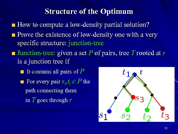 Structure of the Optimum How to compute a low-density partial solution? Prove the existence