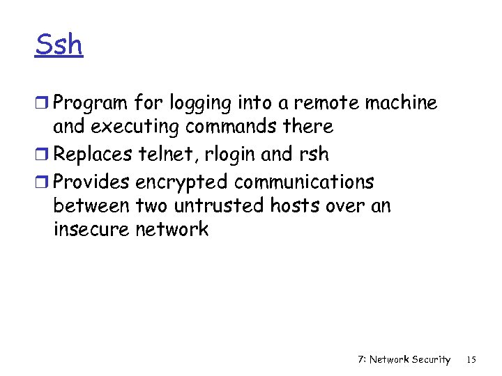 Ssh r Program for logging into a remote machine and executing commands there r