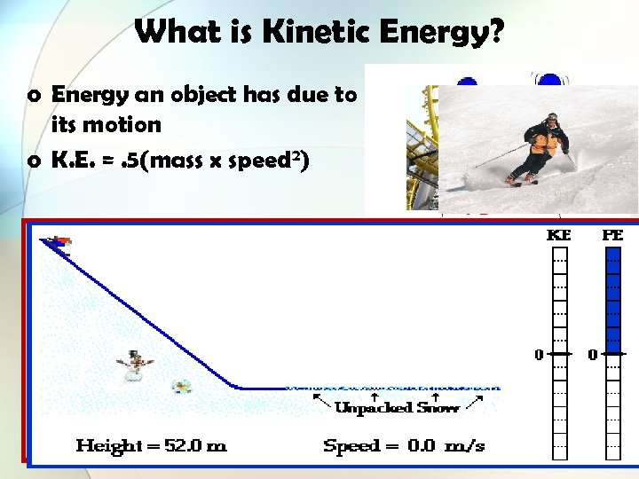 What is Kinetic Energy? o Energy an object has due to its motion o
