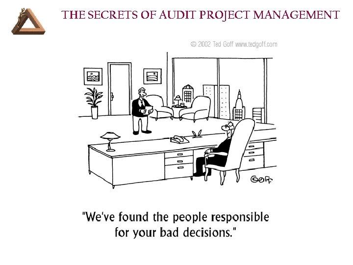 THE SECRETS OF AUDIT PROJECT MANAGEMENT