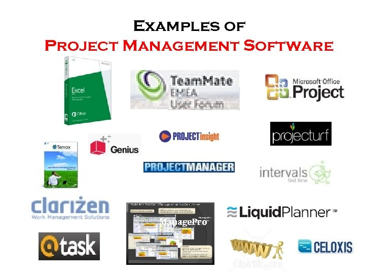 Examples of Project Management Software Manage. Pro