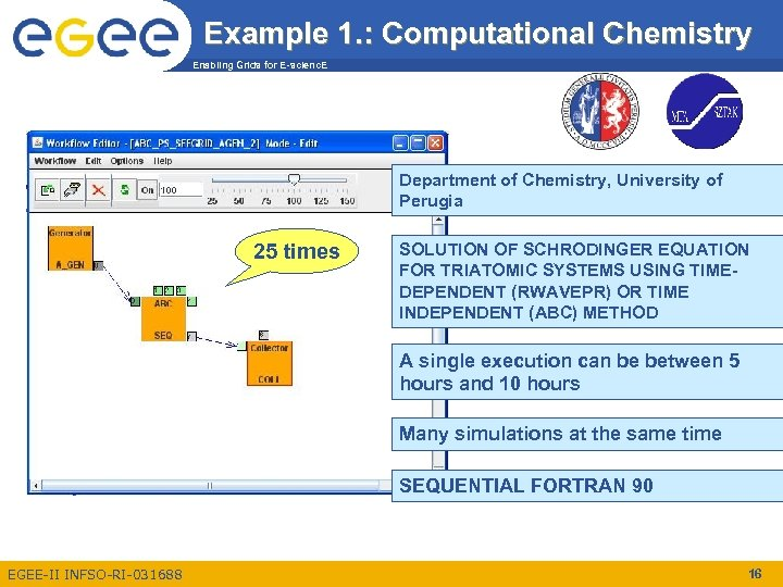 Example 1. : Computational Chemistry Enabling Grids for E-scienc. E Department of Chemistry, University