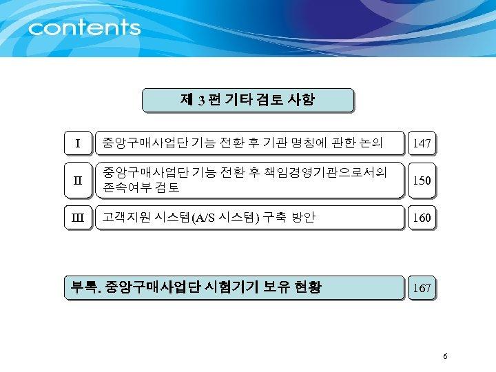 제 3 편 기타 검토 사항 I 중앙구매사업단 기능 전환 후 기관 명칭에 관한