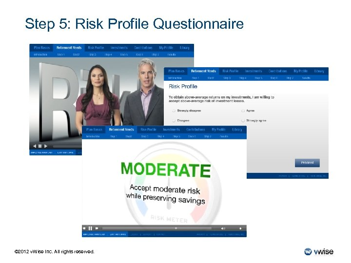 Step 5: Risk Profile Questionnaire © 2012 v. Wise Inc. All rights reserved.