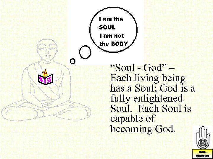 """""""Soul - God"""" – Each living being has a Soul; God is a fully"""
