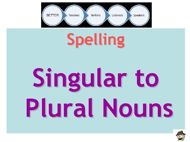 Spelling Singular to Plural Nouns