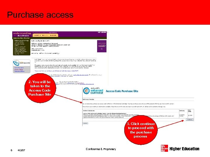 Purchase access 2. You will be taken to the Access Code Purchase Site 3.