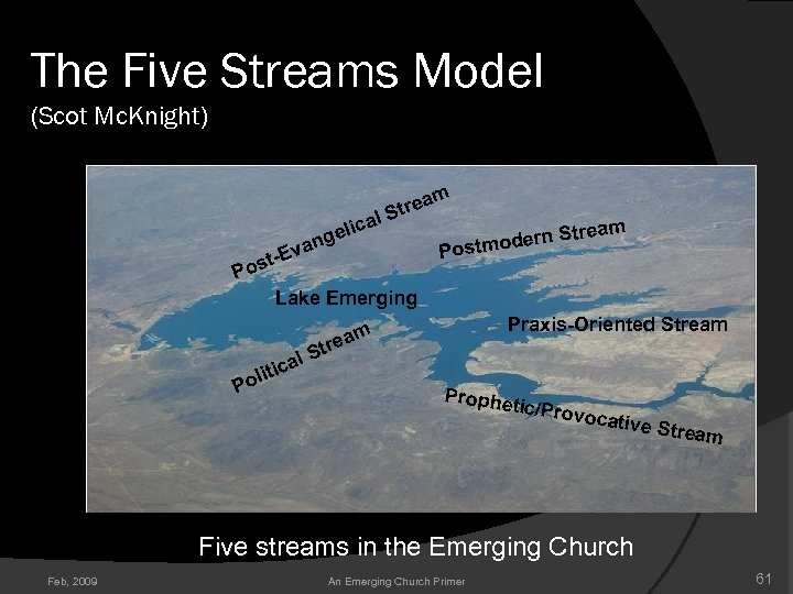 The Five Streams Model (Scot Mc. Knight) m a Stre l a ic gel