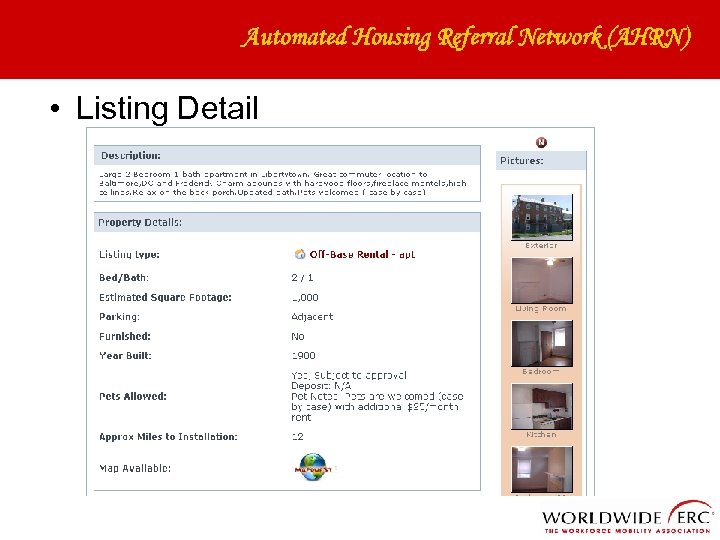 Automated Housing Referral Network (AHRN) • Listing Detail