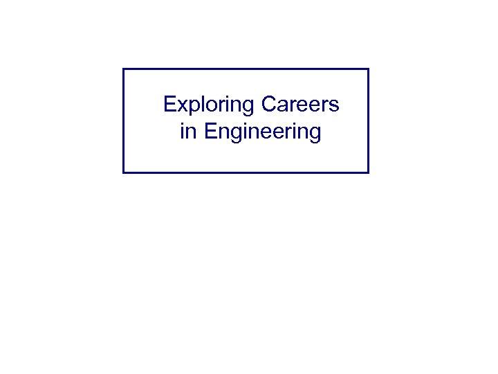 Exploring Careers in Engineering Steve Snelling Industrial Engineer Boeing – Everett Stephen. r. snelling@boeing.
