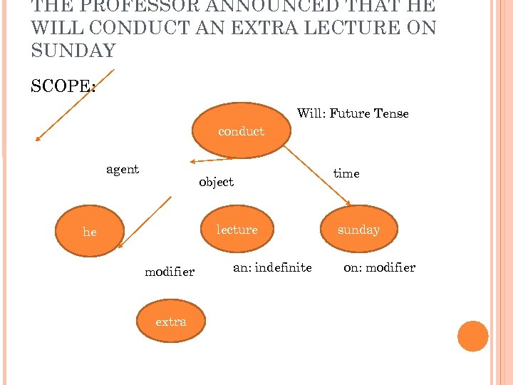 THE PROFESSOR ANNOUNCED THAT HE WILL CONDUCT AN EXTRA LECTURE ON SUNDAY SCOPE: Will: