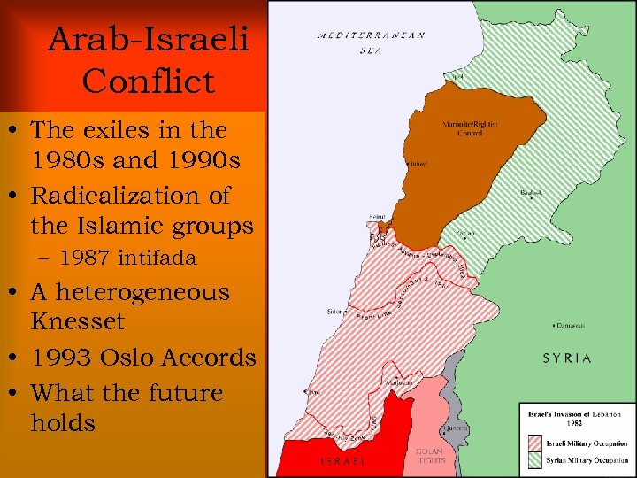 Arab-Israeli Conflict • The exiles in the 1980 s and 1990 s • Radicalization