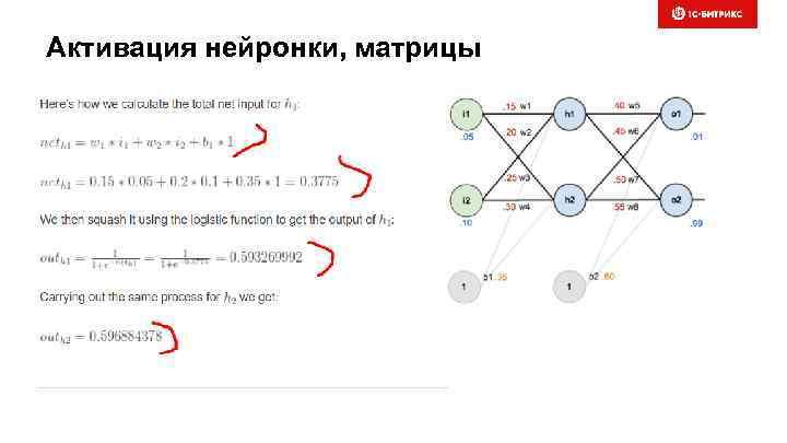 Активация нейронки, матрицы