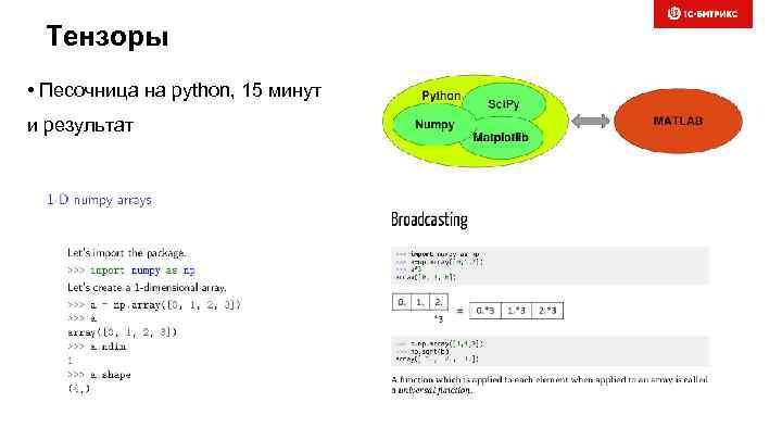 Тензоры • Песочница на python, 15 минут и результат
