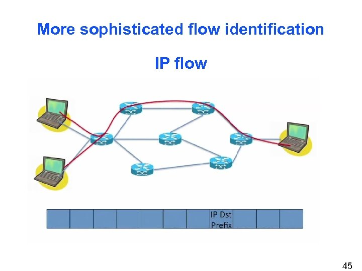 More sophisticated flow identification IP flow 45