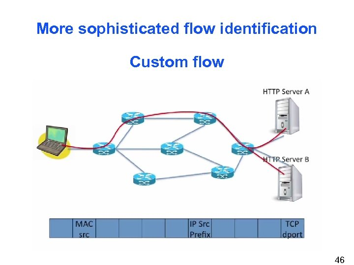 More sophisticated flow identification Custom flow 46