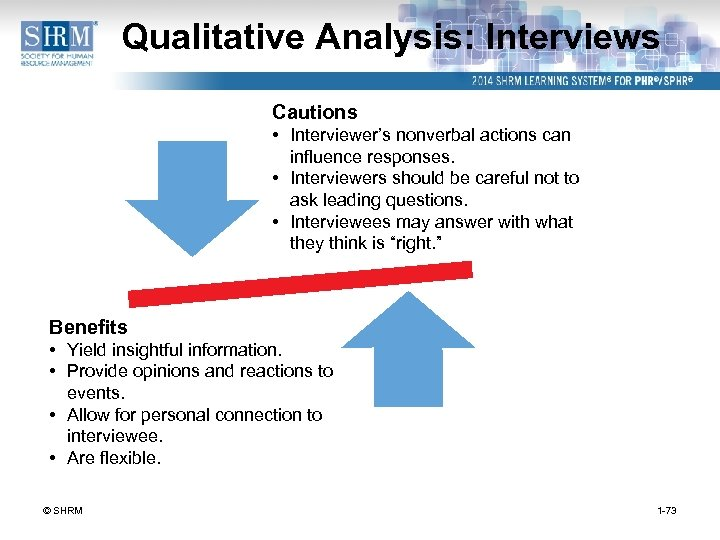 Qualitative Analysis: Interviews Cautions • Interviewer's nonverbal actions can influence responses. • Interviewers should