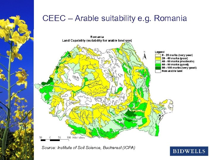 stewardship & prosperity CEEC – Arable suitability e. g. Romania Source: Institute of Soil