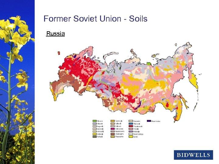 stewardship & prosperity Former Soviet Union - Soils Russia