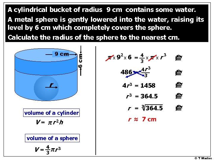 486 = r 4 x 3 π x r 3 4 r 3 =