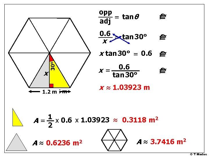 0. 6 1. 2 m m c c x 30° x tan 30° =