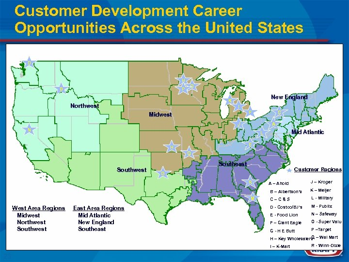 Customer Development Career Opportunities Across the United States D H B P O New