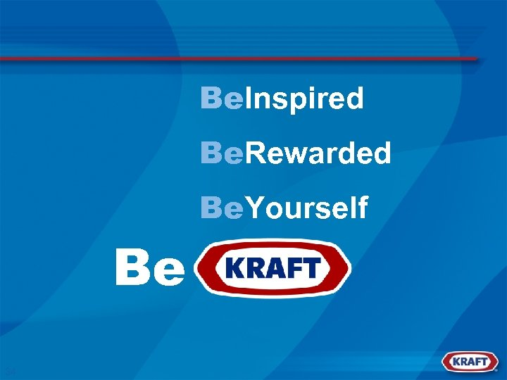 Be. Inspired Be. Rewarded Be. Yourself Be 34