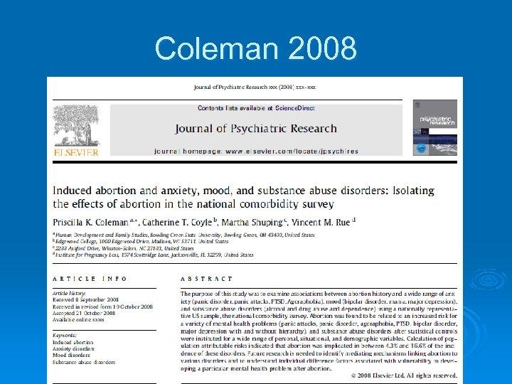Coleman 2008
